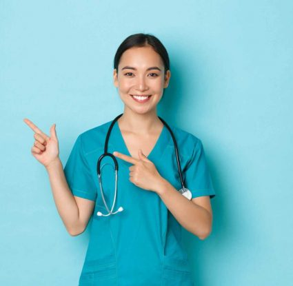 Pielęgniarka uśmiechnięta